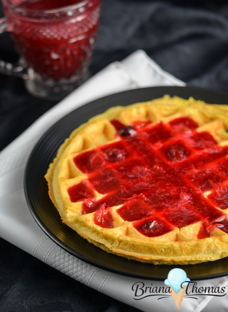 Cornbread Waffle - THM:E, low fat, sugar free, gluten/nut free with dairy free suggestion - briana-thomas.com
