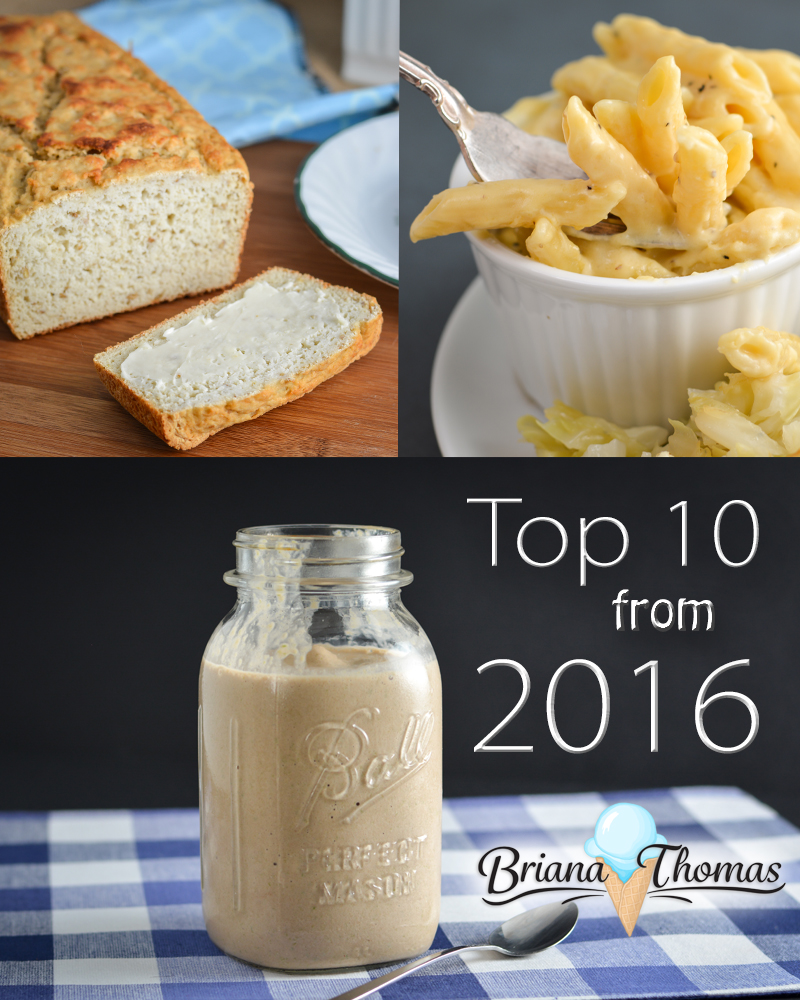 Here's a list of my Top 10 from 2016! Top 10 healthy recipes from Briana-Thomas.com, that is! All of these recipes can be found in my cookbook!