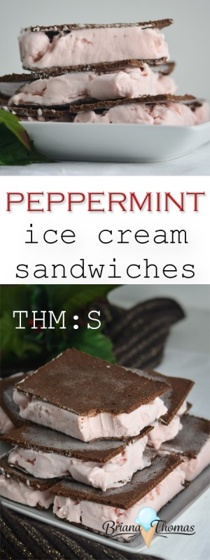 These yummy Peppermint Ice Cream Sandwiches are low carb, sugar free, THM:S, and gluten/egg/nut free! I love to have them on hand in the freezer!