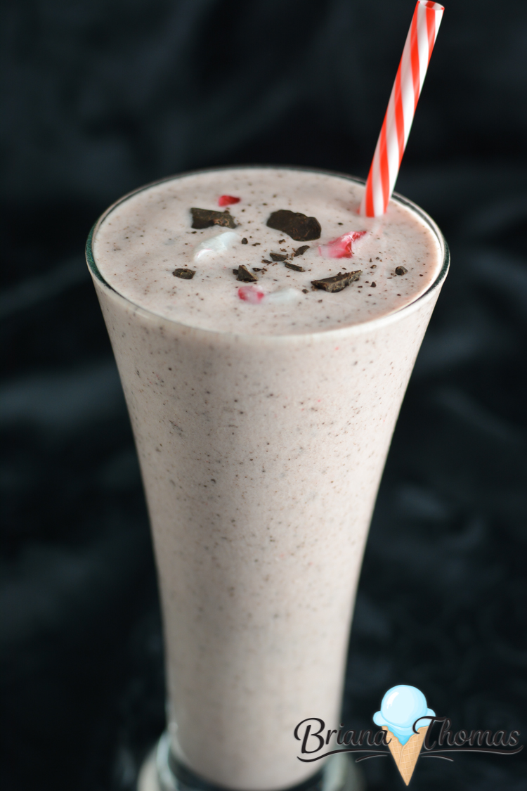 This Peppermint Chip Frappe is my healthy take on Starbucks! THM:S, low carb, sugar free, gluten/egg/nut free, with chunks of peppermint and chocolate