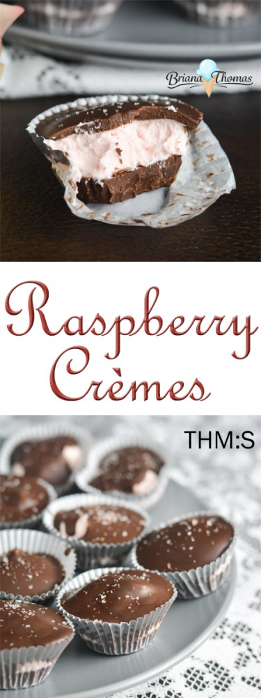 These cute Raspberry Crèmes are so easy to make, and they make the perfect dessert (or gift!) for Valentine's Day! THM:S, low carb, gluten/egg/nut free