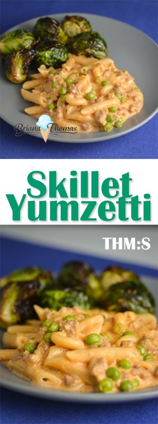 This Skillet Yumzetti is a healthy recreation of an old family favorite in THM-friendly form! THM:S, gluten/egg/dairy/nut free suggestions
