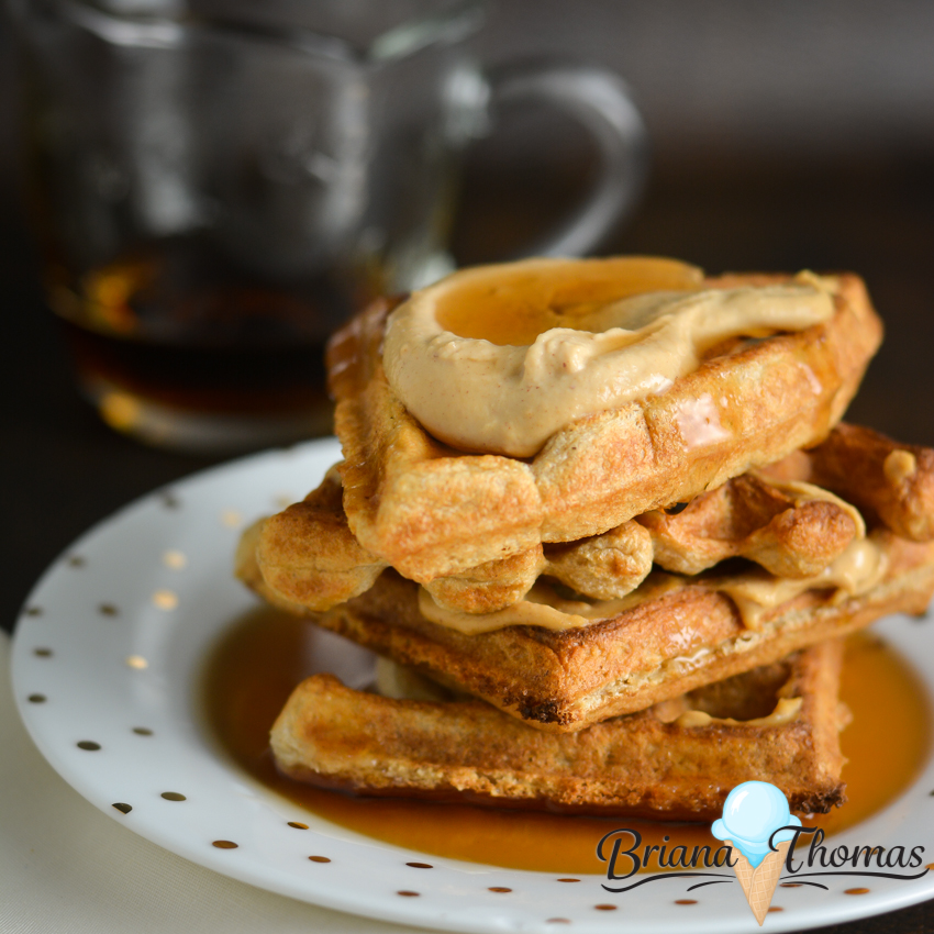 """The batter for these Cheater """"Sourdough"""" Waffles is soured to make it easier on blood sugar, but you don't need a starter! THM:E, low fat, dairy/nut free"""