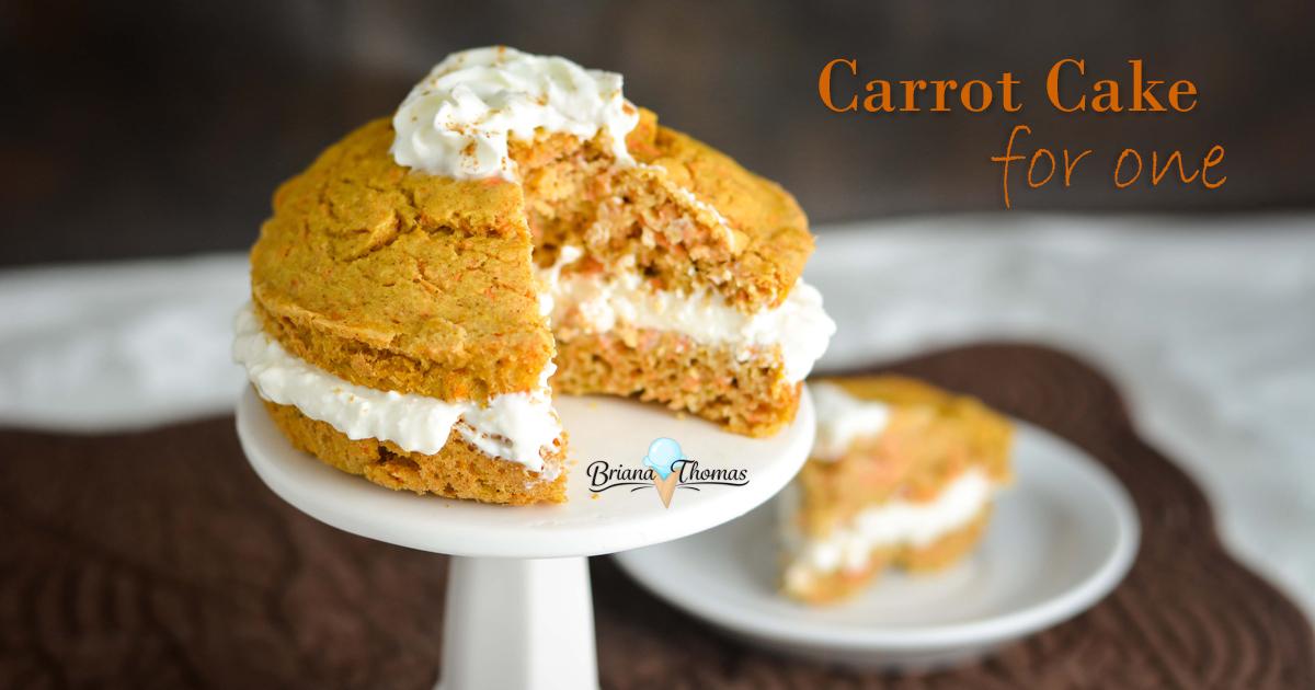 Carrot Cake for One - www.briana-thomas.com