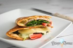 Strawberry Ham & Swiss Quesadilla