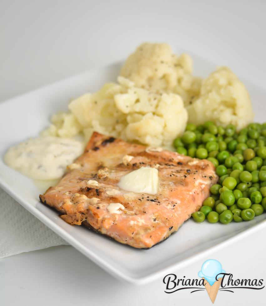 "Simple ""Brown Sugar"" Grilled Salmon"