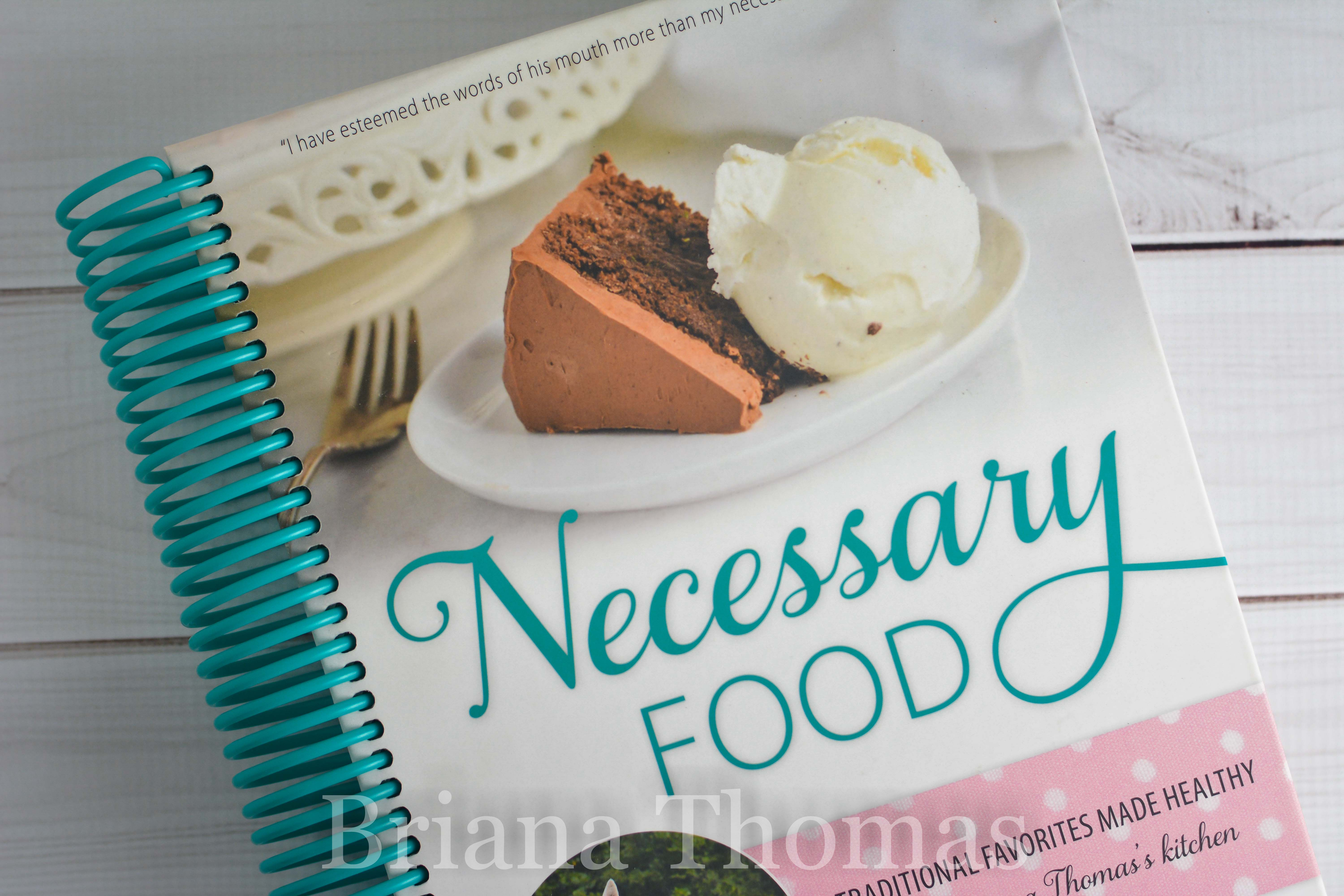 I'm giving away a copy of my cookbook, Necessary Food! It's a hard cover, spiral bound, full color low-glycemic cookbook full of sugar-free recipes!