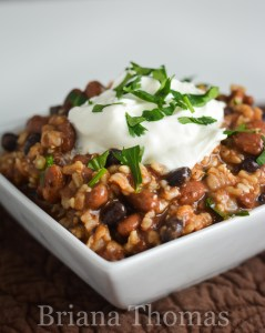 Easy Mixed Rice and Beans