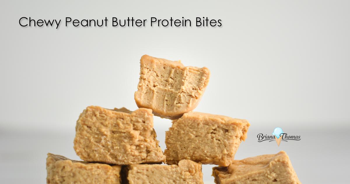 Chewy Peanut Butter Protein Bites - www.briana-thomas.com