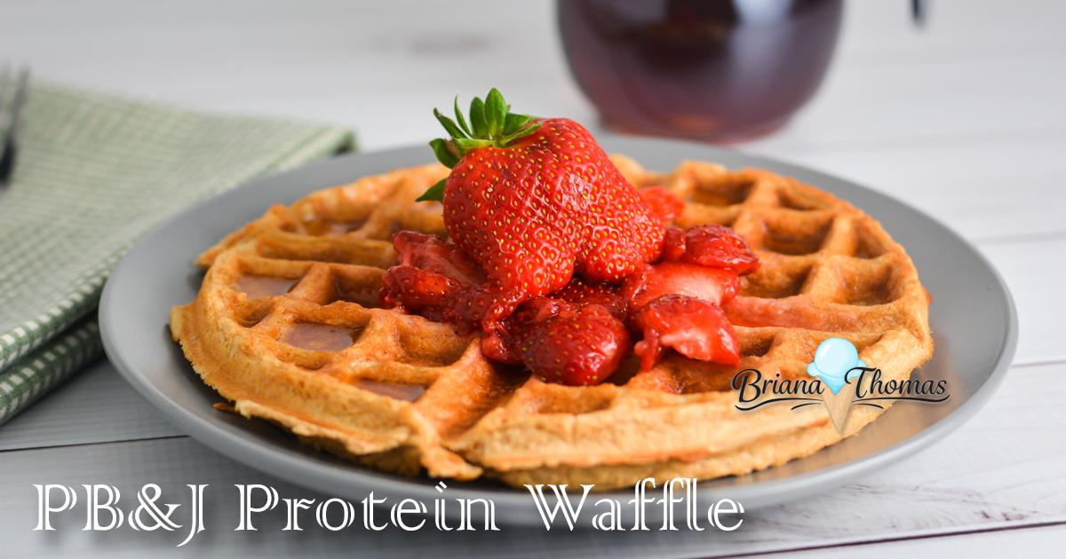 PB&J Protein Waffle - www.briana-thomas.com