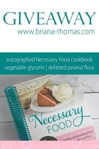Random Giveaway – Just For Fun – Cookbook, Defatted Peanut Flour, Vegetable Glycerin