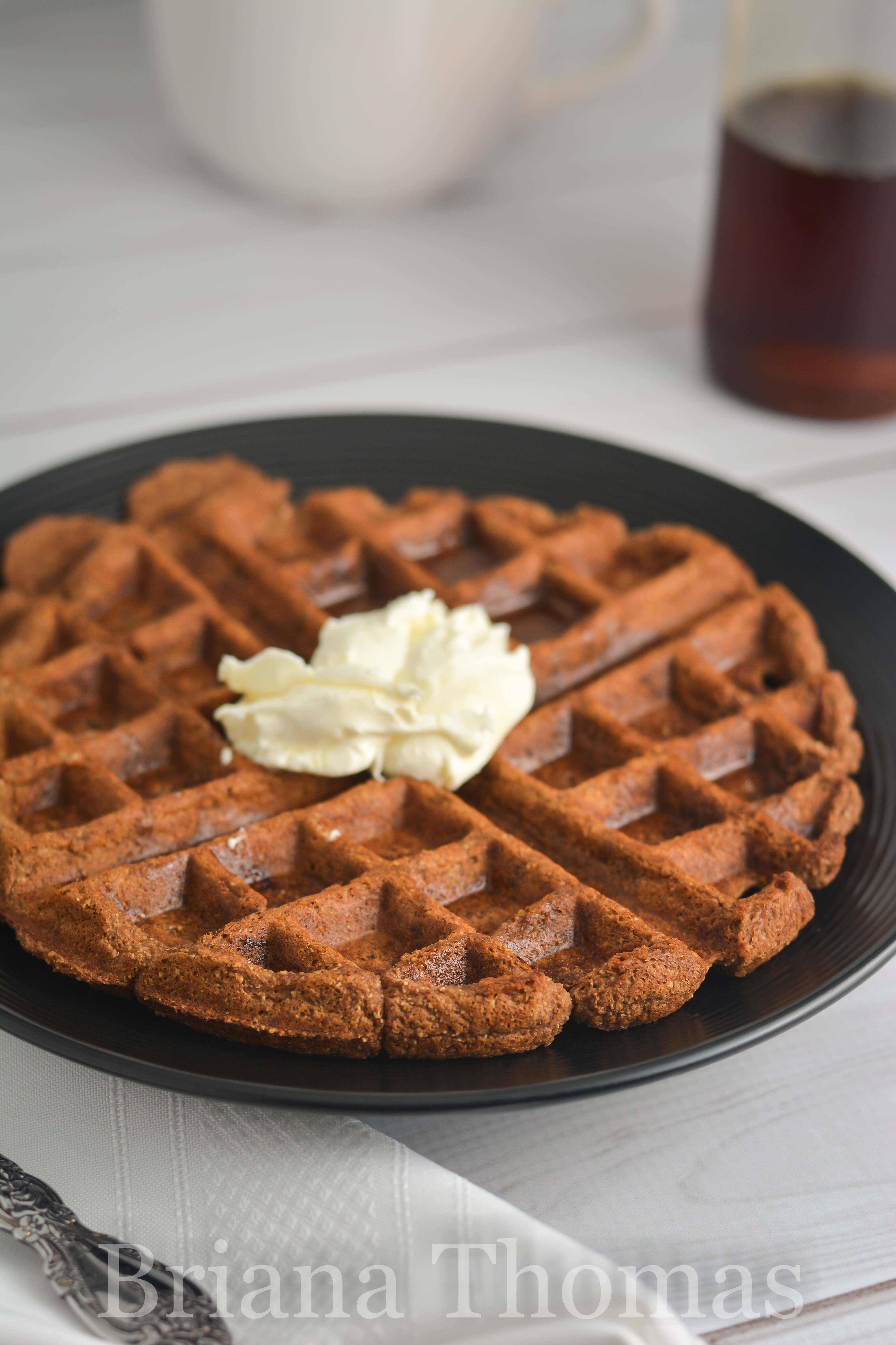 This Mocha Waffle is another weapon in my Fuel Pull arsenal. S, E, and FP topping suggestions given. THM:FP, low carb, low fat, sugar free, gluten/nut free