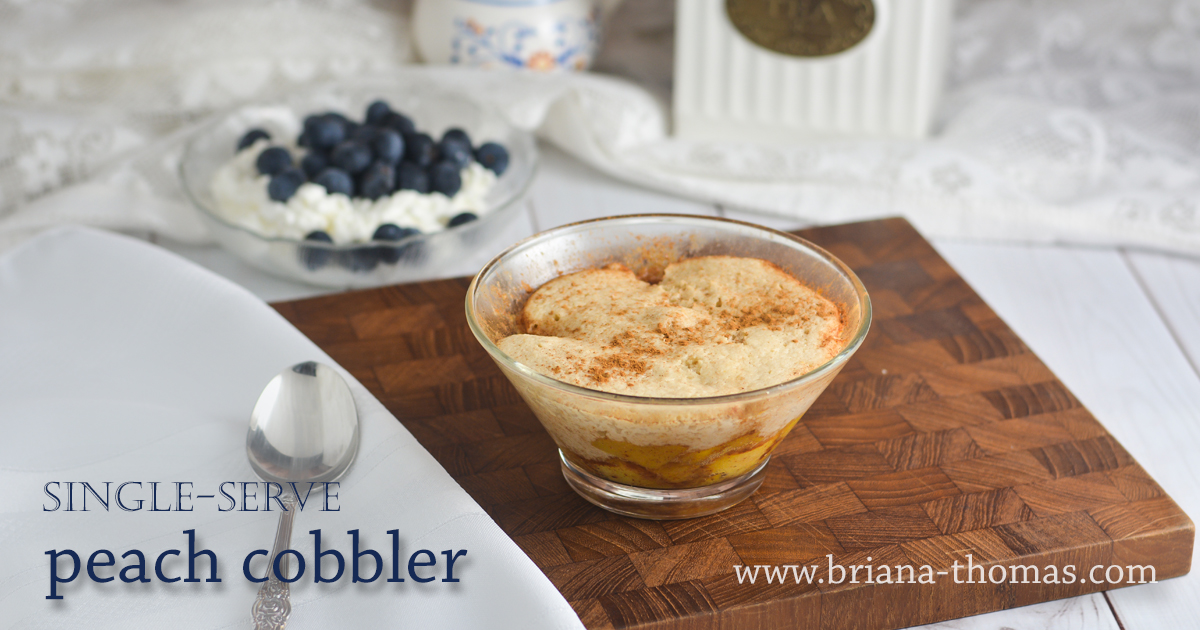 Single-Serve Peach Cobbler - www.briana-thomas.com