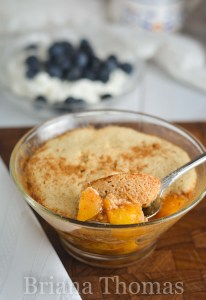 Single-Serve Peach Cobbler