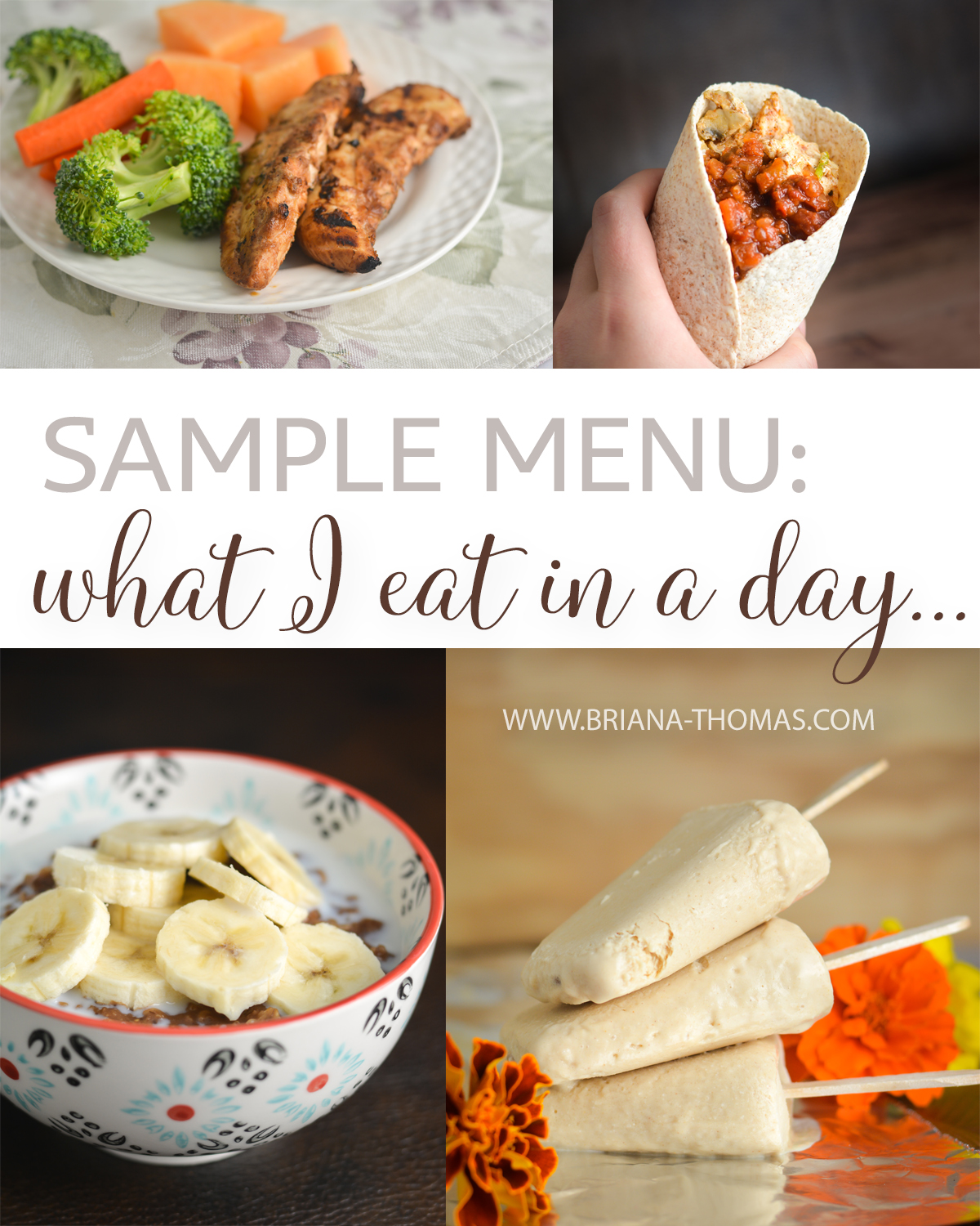 I've been making some changes to my menu based on what I've been learning about my body, so here's a THM-friendly sample menu for what I eat in a day!