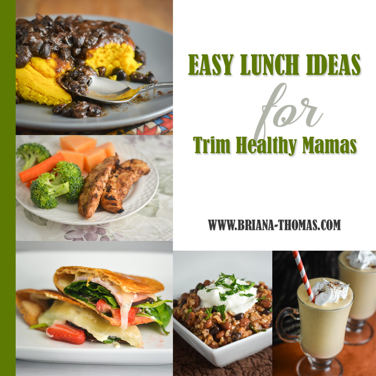 Check out this post for a huge list of easy lunch ideas for Trim Healthy Mamas organized by fuel types! Low carb (S) and low fat (E) options