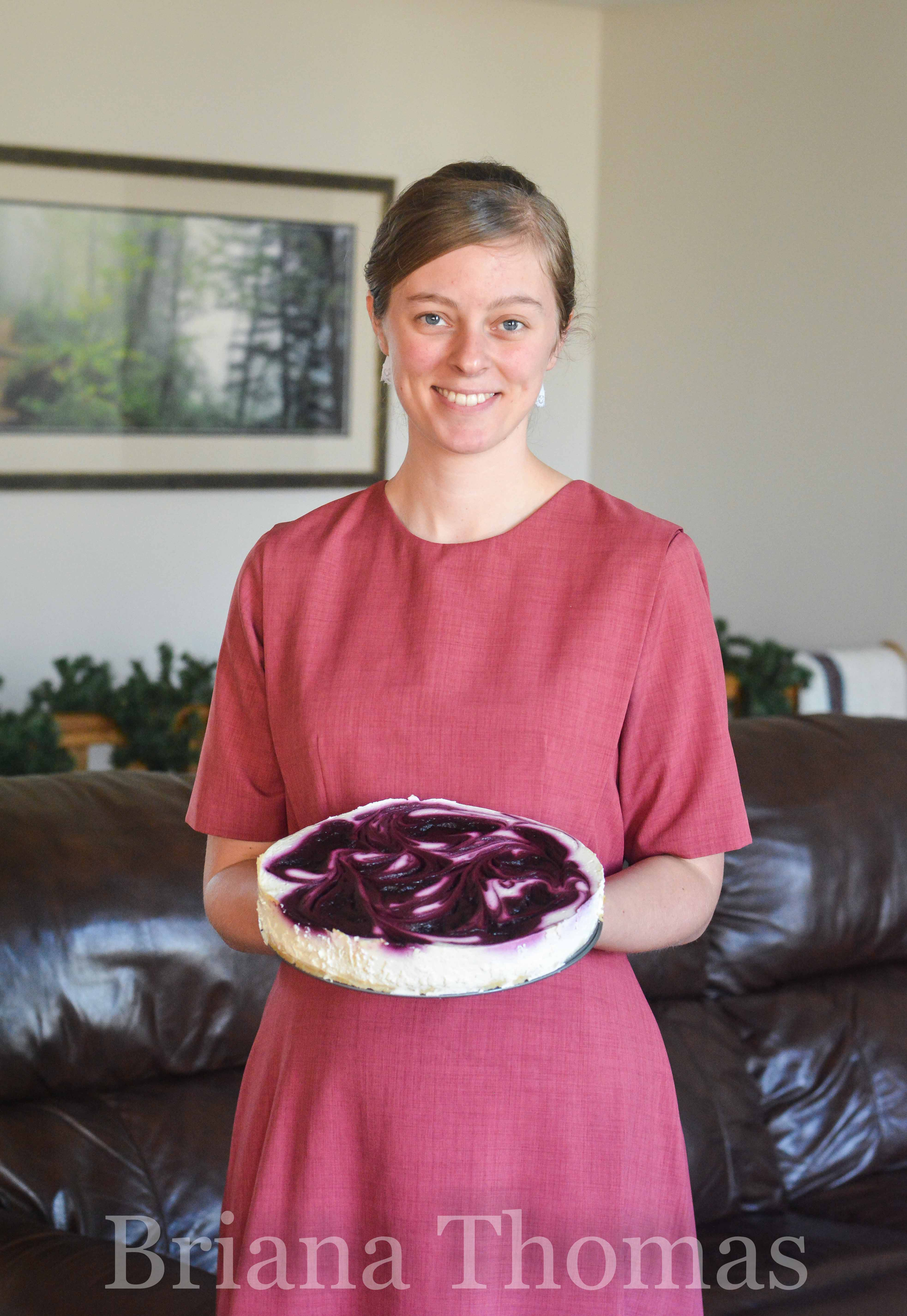 This Black Raspberry Cheesecake is gorgeous *and* it's my favorite cheesecake recipe to date! So creamy. THM:S, low carb, sugar free, gluten free, nut free