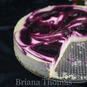 Black Raspberry Cheesecake {22nd Birthday Cake}
