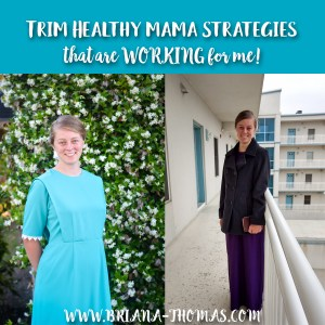 Trim Healthy Mama Strategies That Are Working for Me!