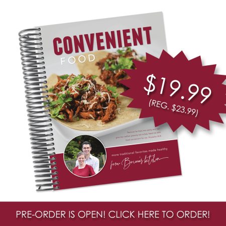 Convenient Food - low-glycemic cookbook from www.briana-thomas.com