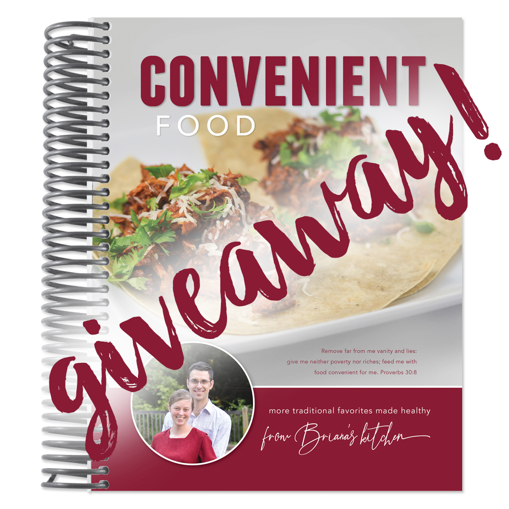 I'm giving away 3 copies of my soon-to-be-released low-glycemic cookbook, Convenient Food! Check out the post to enter the Convenient Food giveaway!