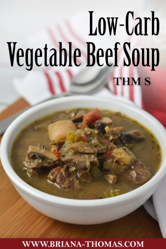 This comforting Vegetable Beef Soup doesn't even require any special ingredients! THM S, low carb, gluten free, egg free, dairy free, nut free