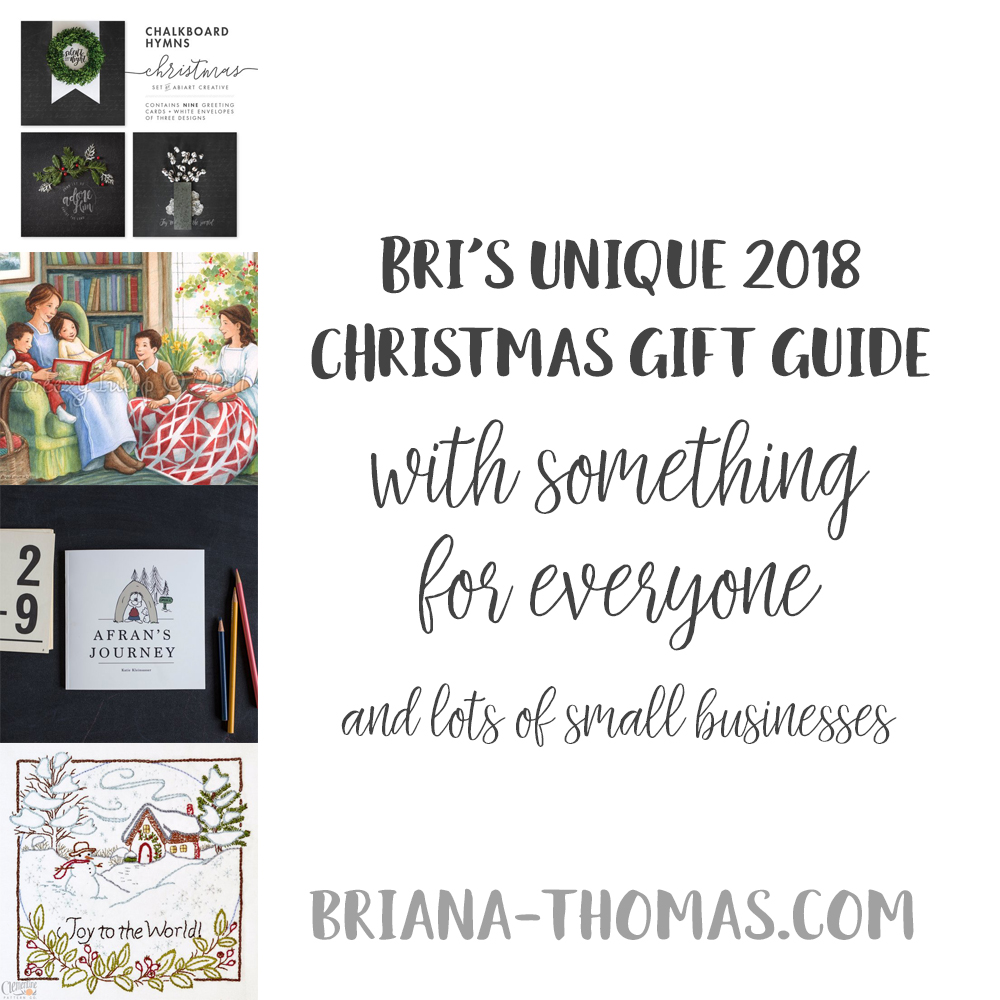 Bri's Unique 2018 Christmas Gift Guide (with something for everyone!)