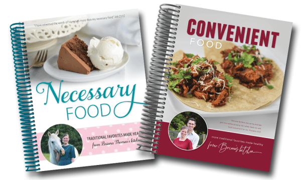 Necessary Food and Convenient Food cookbooks - Briana Thomas Burkholder