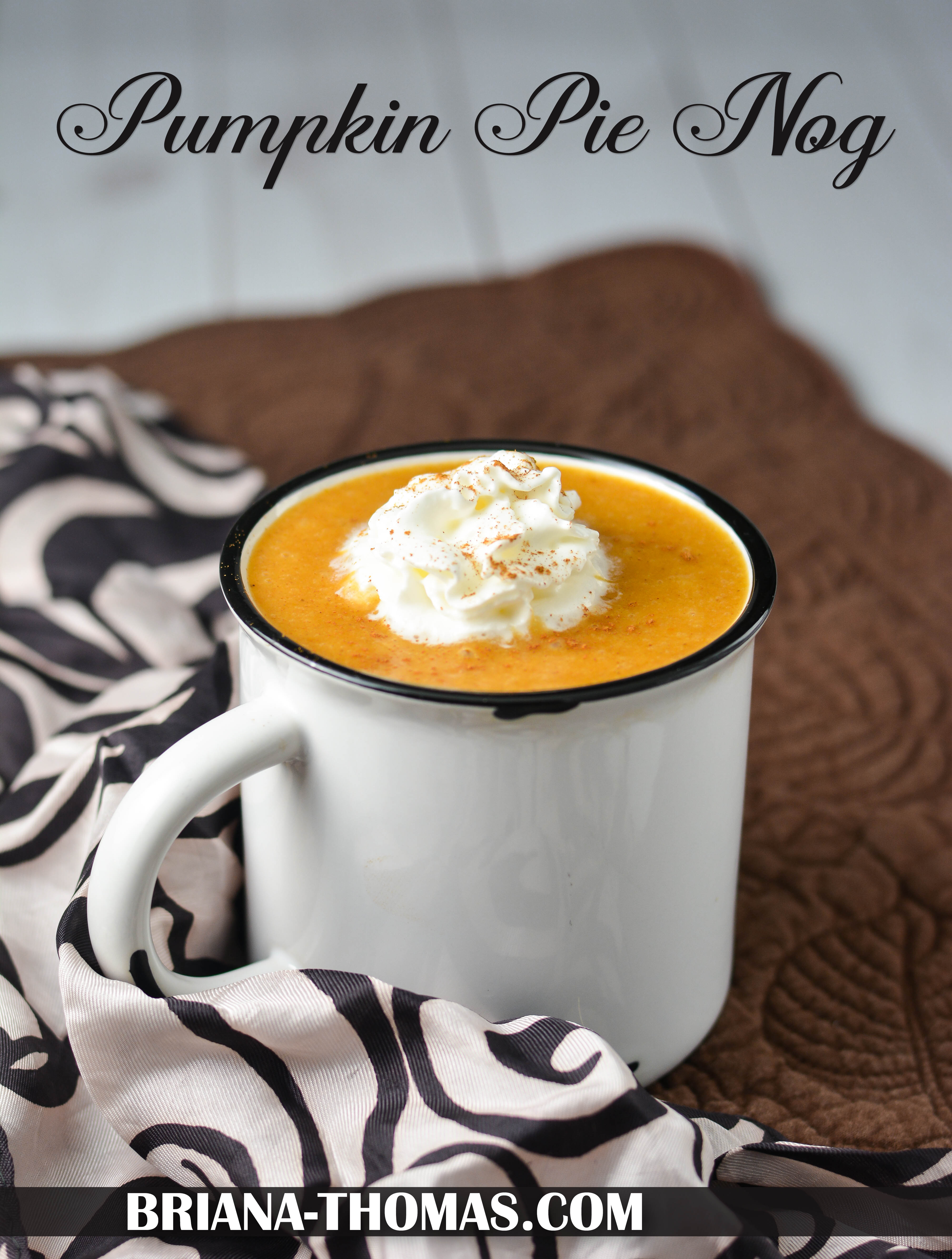 This Pumpkin Pie Nog tastes like the inside of a pumpkin pie! THM Fuel Pull, low carb, low fat, no sugar added, gluten/egg/dairy free with nut free option