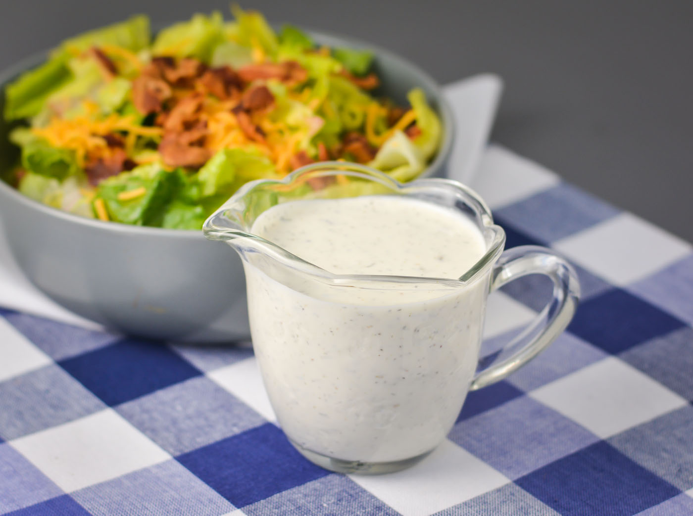 Bri's Better-Than-Ranch Dressing | THM S, low carb, sugar free, keto, dairy free option