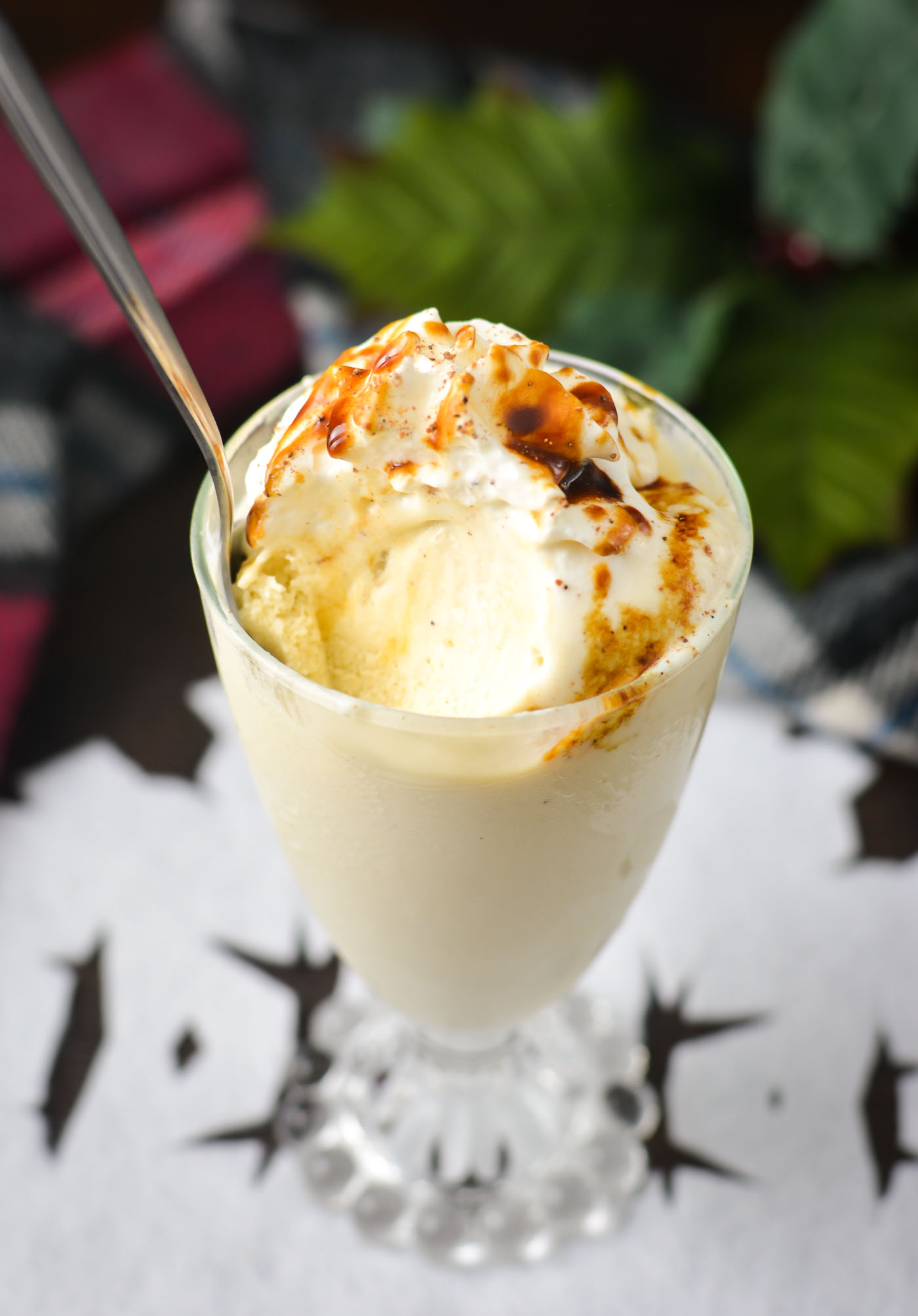 Soft-Serve Eggnog Ice Cream | THM S, low carb, refined sugar free