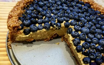 Blueberries & Cream No-Bake Vegan Tarte