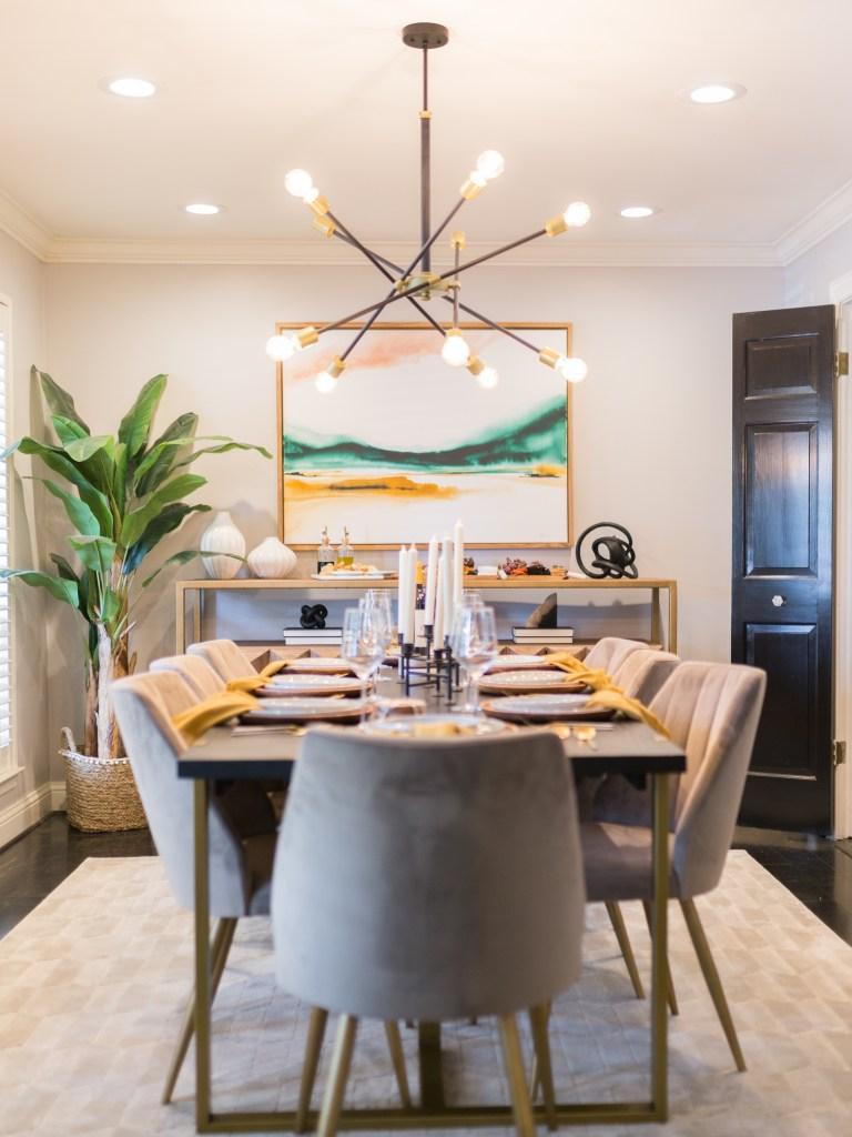 mid-century modern dining room reveal