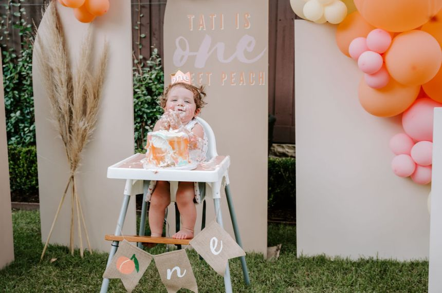 first birthday one sweet peach theme