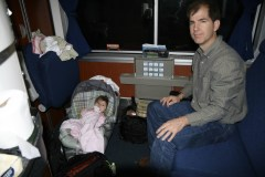 Brian and Katherine on Train