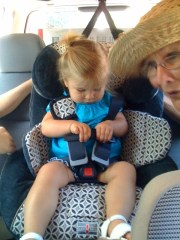 Katie Beth Testing the Car Seat