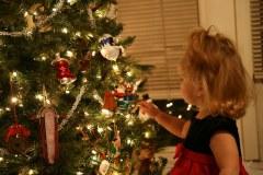 Christmas Tree and Katie Beth