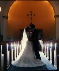 Karen and Brian Silhouette Kissing
