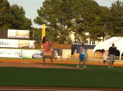 First Pitch Honors on Karen's ½ Birthday