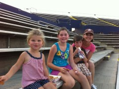 Aunt Hope, Charlie, Hannah, and Katie Beth at Huntsville Stars