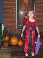 Katie Beth as Vampire Devil for Halloween