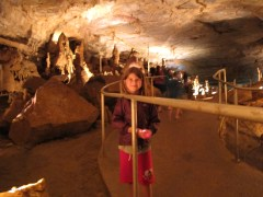 Katie Beth in Cathedral Cavern