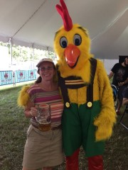 Karen and Chicken at Oktoberfest