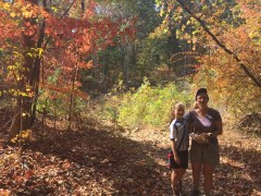 Katie Beth and Karen with Fall Color