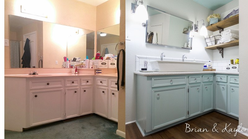 Brian & Kaylor Master Bath Before&After