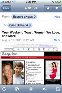 Esquire eNews email design
