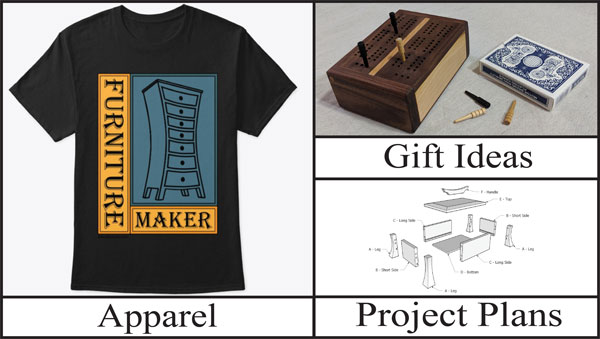 Brian's little store of woodworking apparel, project plans and gift ideas