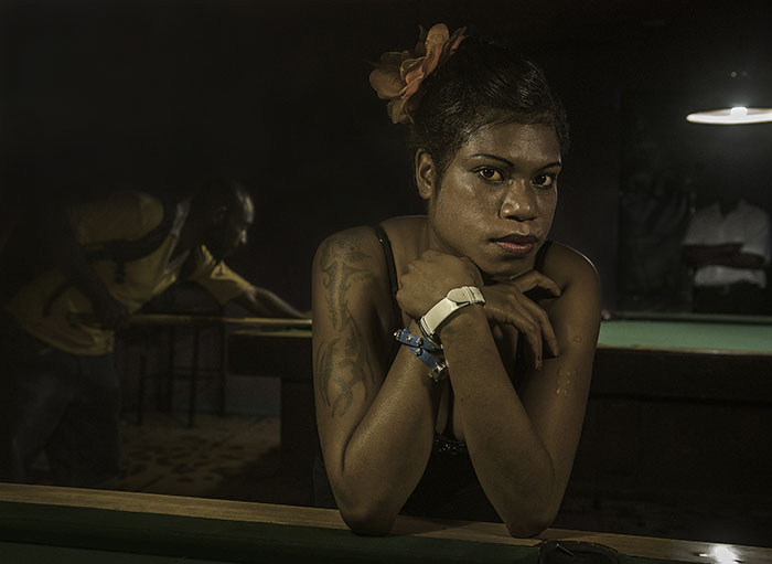 """DISKO MERI - PNG Bar Girl"" - Honorable Mention 9th International Color Awards - Brian Cassey"