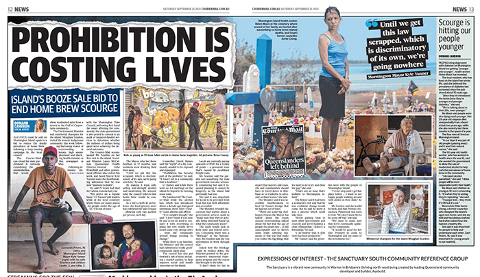 'Veronica - Mornington Island - Where Home Brew Kills' - image by Brian Cassey for Courier Mail story on alcohol abuse and home brew on Mornington Island in the Gulf of Carpentaria.