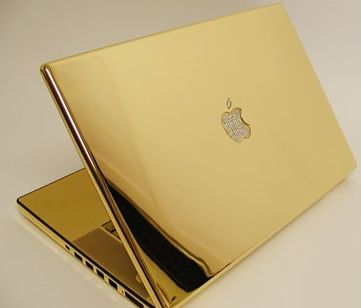 MacBook for Bloggers: 24-carat gold MacBook Pro